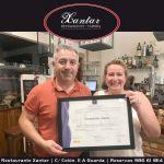 El Restaurante Xantar renueva el Compromiso de Calidad Turística SICTED
